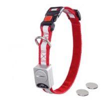 LED světelný obojek nylon červený obvod 30-45cm x 15mm