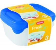 SET FRESH&GO 3x0,8l dózy modré
